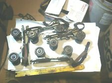 antique(2)Pair Union Hardware Co metal roller skates #5 Sears Roebuck +key