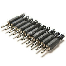 "10X Small 3.5mm 1/8"" Audio Male Plug Jack Adapter Stereo Connector Headphone Hot"
