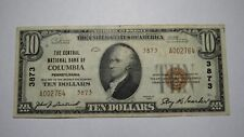 $10 1929 Columbia Pennsylvania PA National Currency Bank Note Bill! #3873 RARE