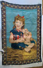 Vintage Girl Lamb Tapestry 51'' x 34'' Pictorial Wall Hanging Home Decor