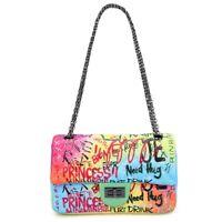 Luxury Women Bag Graffiti Printed Shoulder Big Bags Large Travel Bags Tihkl