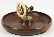 """Bakelite English Ship's Wheel Vise on Birdseye Maple Bowl"""