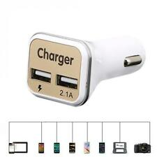 Universal Dual USB Car Charger 5V 2.1A Adaptive Fast Charger with LED