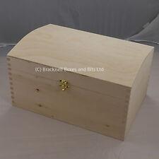 Cofre De Madera De Pino DD120 Caja De Almacenamiento Juguetes recuerdo piezas de pintura o decorar