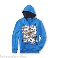 WWE John CENA Hoodie NeW Boy's 6/7 Zip-Up Blue Jacket CM Punk Rey Mysterio HHH