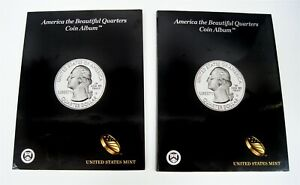 2010-2021 P D US America The Beautiful Quarters Coin Set w/ Official Albums
