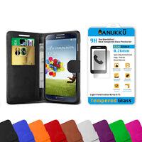 Custodia Cover Portafoglio + Vetro Temperato Per Samsung Galaxy S4 i9500