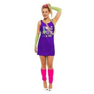 Womens I Love 90s Muzik Tape Dress Fancy Hen Night Party Musical Pop Star 7836