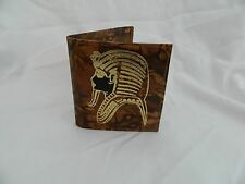 Egyptian Camel Leather Boy Wallet King Tut Mask Design # 16