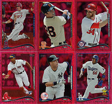 """2014  """"TOPPS""""   RED FOIL  SERIES #1   COMPLETE 330 CARD SET"""