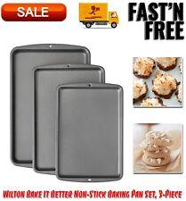 Bake It Better Non-Stick Cookie Baking Pan Set, 3-Piece, Kitchen Dining Bakeware