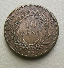 N°57  - GUYANE - COLONIES FRANÇAISES - CHARLES X - 10 CENTIMES 1829 A