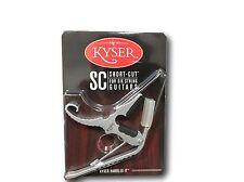 New USA Kyser Partial Guitar Capo Short-Cut 3-STRING Acoustic Silver KG3SA