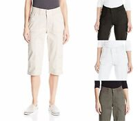 Women's Lee Relaxed Fit Skimmer Pants Capris Choose Size & Color -F