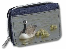 Canadian Geese and Goslings Girls/ladies Denim Purse Wallet Christmas Gift Idea