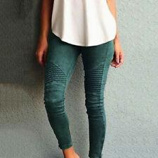 Women Skinny Pants High Waist Slim Stretch Elastic Trousers Leggings Plus Size