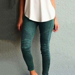 Women Skinny Leggings High Waisted Slim Pencil Pants Jeggings Plus SizeTrousers