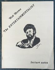 Vintage Bob Brown The Entertainmentalist Magic Lecture Notes Book