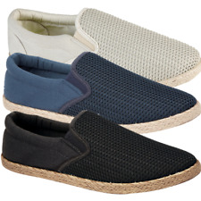 MEN'S ESPADRILLE TWIN GUSSET FASHIONABLE COMFORTABLE CASUAL HOLIDAY SHOE 7-12