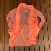 Hoss Intropia Cardigan Brand New w Tags Pink Orange Contrasting Fabric Size XS