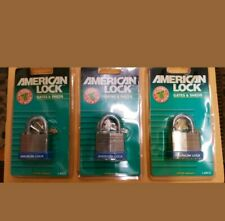 New listing Lot of 3 American Lock Padlock-Series 1140Cc for Gates and Sheds Brand New