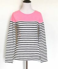 Superdry Pink & Blue Stripe Breton Top NWT Size XS Retail $29.50 Price $21