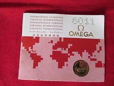 Vintage 1980s Omega International Guarantee Booklet