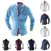 Herren Hemd Shirt Polo T-Shirt Langarm SlimFit Figurbetont Größe S-XXL Vintage