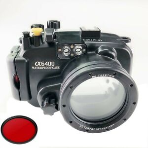 Meikon 40m Underwater Camera Diving Housing Case for Sony A6400 16-50mm