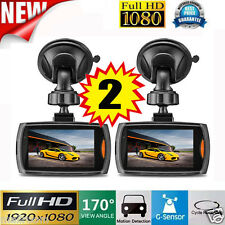 "2x 2.2"" Auto Kamera Recorder KFZ DVR Überwachung Dashcam HD 1080P G-sensor Video"