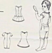 "21-22""ANTIQUE FRENCH JUMEAU-GERMAN CHILD DOLL@1881 UNDERWEAR/CHEMISE PATTERN"