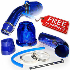 Universal COMPLETE COLD AIR INTAKE Induction KIT HOSE System BULLET Filter BLUE