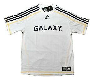 adidas MLS Mens Los Angeles Galaxy Climalite Soccer Jersey NWT M, XL
