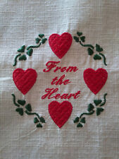Machine Embroidered Quilt Top Block - From the Heart