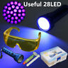 LED Flash Light+Safety Glasses+UV Leak Detector HVAC A/C Fluid Gas Detection Kit