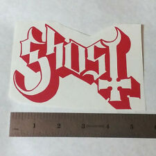 GHOST Vinyl DECAL STICKER BLK/WHT/RED Heavy Metal BAND Logo Window Guitar LP