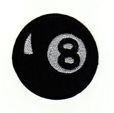 ag57 Pool Billard Acht 8 Ball Schwarz Kugel Aufnäher Bügelbild Applikation Sport