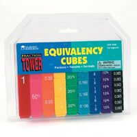 Learning Resources - Fraction Tower Rainbow Cubes - Equivalency Set