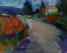 JOSE TRUJILLO ORIGINAL Oil Painting IMPRESSIONISM Path Trail Colorist Landscape