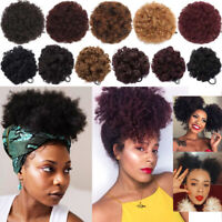 65G High Puff Afro Ponytail Drawstring Buns HairPiece Curly Updo Hair Extensions