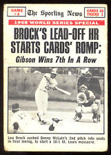 1969 TOPPS OPC 165 WORLD SERIES GAME #4 LOU BROCK BOB GIBSON WINS DETROIT TIGERS
