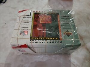 1994 Upper Deck World Cup Soccer Football Factory Sealed Box 35 packs rare