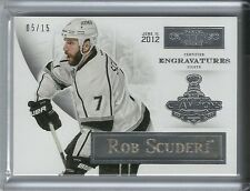 2012-13 Panini Prime Dominion Engravatures ROB SCUDERI Serial # 5 of 15 LA Kings