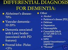 52 page ALZHEIMER'S DISEASE DEMENTIA PowerPoint Presentation on CD