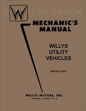 Jeep CJ2A CJ3A Shop Manual 1946 1947 1948 1949 1950 1951 1952 1953 CJ 2A 3A