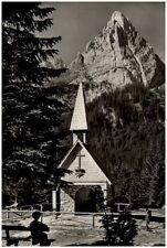 Wanker Fleck Bayern Postkarte 1961 gelaufen Gedächtniskapelle mit Geiselstein