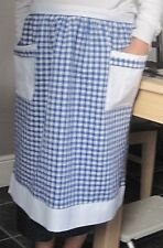 BLUE AND WHITE GINGHAM DESIGN HALF APRON / PINNY  NO. 3