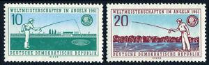 Germany DDR/GDR 563-564, Mint. World Fishing Championships, Dresden, 1961