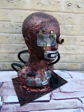 MALE Steampunk Hat Display Jewellery Mannequin Head Apocalypse Mad Max Metal (H)