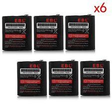 6x Ni-MH Battery 53615 Fr Motorola Radio EM1000 KEBT-071-A KEBT-071-C KEBT-071-D